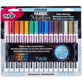 Rainbow Bullet Tip Fabric Markers - 15 Piece Set